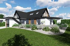 Roskilde 3 - m2plus - ombyg - arkitekttegnet - villa - funkis - lavenergi Villa, Mansions, House Styles, Home Decor, Decoration Home, Manor Houses, Room Decor, Villas, Mansion