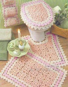 jogo de banheiro de croche rosinha