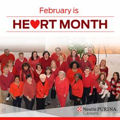 Sporting our red in honor of Heart Month this February