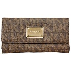 Michael Kors Jet Set Checkbook Wallet in Brown $118.50 (save $39.50)