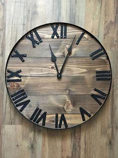 20 Rustic Home Decor Wall Clock Rustic Clock Rustic Farmhouse Clocks, Rustic Wall Clocks, Wooden Clock, Rustic Wall Decor, Rustic Walls, Farmhouse Decor, Modern Farmhouse, Wall Clock Hd, Wall Art