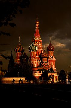 St. Basil's Cathedral in Moscow// muchas ganas de conocer moscu!!!