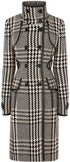 Karen Millen - Statement Check Coat. $560. http://www.lyst.com/clothing/karen-millen-statement-check-coat-black/