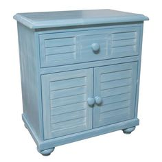 Chelsea Home Furniture 771010-131-N Palmetto Beach Night Stand in Blue with…