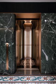 blackstone M+ Hotel, Shanghai - Hospitality Snapshots Lobby Interior, Interior Lighting, Interior Architecture, Elevator Lobby Design, Villefranche Sur Mer, Lift Design, Modern Magic, Function Room, Space Interiors