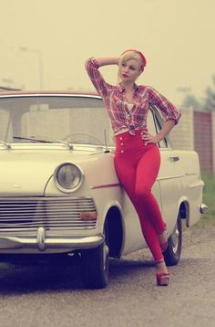 Pin Up... Casual... Red Capris... Yes!