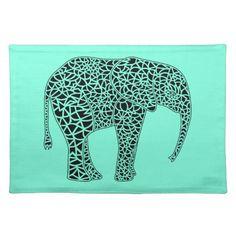 Black Elephant Placemat