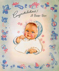Congratulations a Baby Boy | von Rose Red Cottage