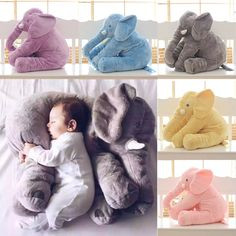 Baby Elephant Pillow Stuffed Animal Toy Children's Bed Pillow For Pregnant Women Almohada Kid Sleep Elephant Baby Infant Pillow