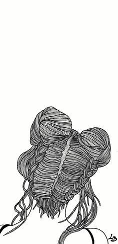 Art Girl, Iphone Wallpaper, Tumblr, Wallpapers, Draw, Black And White, Black N White, To Draw, Black White