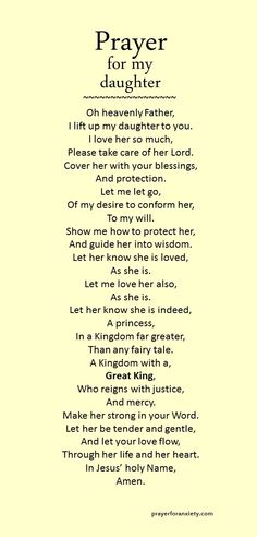 Let her know she is indeed, A princess, In a Kingdom far greater, Than any fairy tale. A Kingdom with a, Great King, Who reigns with justice, And mercy.
