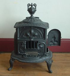 Made at the height of cast iron technology, such stoves display some of the finest examples of casting known today.