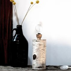 Natural Birch Lamp