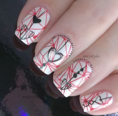 20 Newest Nails for Valentines Day Reny styles-It is time to anticipate about your mani for the advancing Valentine's Day. What are you activity to accept for the attach arts? Paint your nails by affection shapes as usual? Actually you can accept abounding altered account to actualize your Valentine's Day nails. That day is all about love. The affection appearance is not the alone affair to appearance