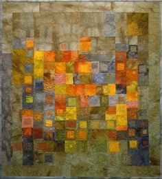 "Bryony Dunsmore -- Uncertain Glory -- This is a smallish quilt -- about 33"" square. Usually I find dye-printed quilts a little diappointing but this one is a stand-out!"