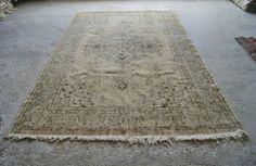 6'5''x10'8'' Large Oushak Rug  Vintage Distressed Rug  by RugToGo