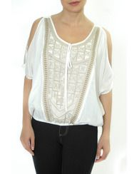 Lady Dutch Fashions -   Women's clothing and apparel  #exotic #tribe #sexy #fashion #spring #shoulders #blouse #white #trendy #chic