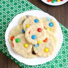 Chewy M&M Sugar Cookies (like Panera)