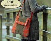 Kersey Tye Messenger Bag | Sewing pattern to make the Kersey Tye Messenger Bag - PDF pattern ...