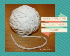 How To Cut T-Shirts To Make Yarn | Wee Folk Art