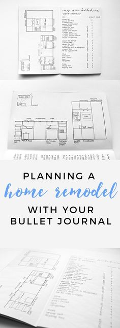 Kitchen Remodeling Plan How you can use your bullet journal to plan a remodel! - Gorgeous and functional bullet journal remodel spread that will help you brainstorm, design, and plan for your next remodel. Bullet Journal September, Bullet Journal Wishlist, Bullet Journal Weekly Spread, Planner Bullet Journal, Bullet Journal Layout, Bullet Journals, Bullet Journal Project Planning, Daily Journal, Life Planner