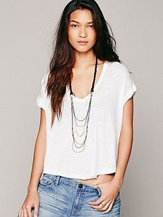Free People Braid Back Layering Necklace