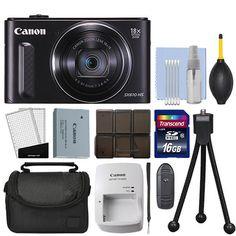 Canon PowerShot SX610 20.2MP Digital Camera 18x Optical Zoom Black  16GB Kit