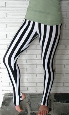 Since I don't do any crazy Cirque Aerial stuff I would wear these as regular pants :) Super cute :)  Striped Leggings, Cirque Aerial Pants, Custom. $30.00, via Etsy.