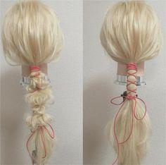 いまインスタでもじわじわと人気になってきている「紐アレンジ」。チョーカーなどでヒットした「スエード紐」をヘアアレンジにプラスするとすごく可愛くなるんです! Braided Hairstyles Tutorials, Crown Hairstyles, Kawaii Hairstyles, Viking Hair, Runway Hair, Pelo Pixie, Hair Arrange, Editorial Hair, Hair Setting