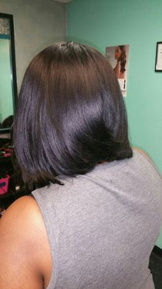 Long layered Bob on black hair Bob Hairstyles 2018, Black Bob Hairstyles, Long Layered, Bobs, Jasmine, Black Hair, Long Hair Styles, Beauty, Hairstyle
