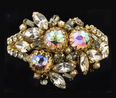 Outstanding Hobe Vintage Aurora Borealis Bracelet.