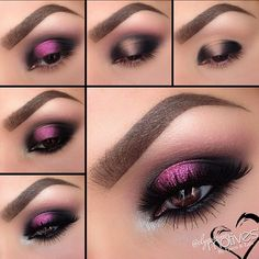 Add some Valentine's Day Glam to your make up with Motives Cosmetics. Love Makeup, Makeup Inspo, Makeup Art, Makeup Inspiration, Makeup Tips, Beauty Makeup, Hair Makeup, Khol Eyeliner, Eyeshadow Makeup