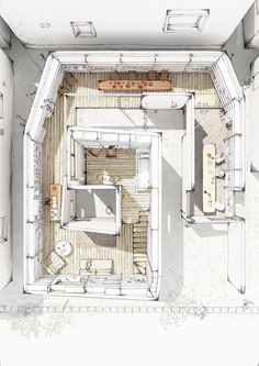Architectural Drawing Design Architecture graphics, oh how many hours we used to render! Croquis Architecture, Plans Architecture, Architecture Graphics, Interior Architecture, Bg Design, Sketch Design, Interior Sketch, Interior Rendering, Interior Design