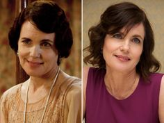 Bonneville's onscreen wife, Elizabeth McGovern, is able to let her hair down when she's not playing Lady Cora. She still looks like she runs the house, though.