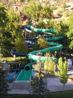 One of the water slides at the Glenwood Hot Springs Pool! 2 hours 45 mins from Denver Glenwood Springs Colorado, Colorado Usa, Colorado Trip, Places To Travel, Places To Go, Water Slides, Summer Travel, Hot Springs, Rafting