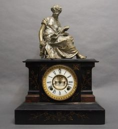 134: Ansonia figural mantle clock