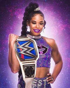 Black Wrestlers, Female Wrestlers, Wwe Wrestlers, Wrestling Divas, Sasha Bank, Wwe Divas, Woman Face, Champs, Mma