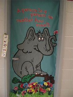 My Dr. Seuss door for preschool!