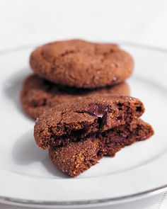 Chewy Chocolate-Gingerbread Cookies - Martha Stewart Recipes.  THE.BEST.