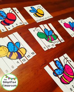 The Simplified Classroom: Spring Insects Skip Counting Puzzles