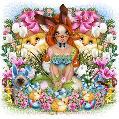 Chrisjes Psp Creatie's: Easter Girl