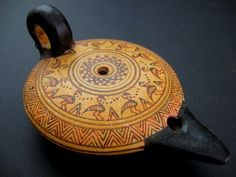 Λύχνος - Another major use of olive oil was for lighting. Clay lamps using wicks immersed in a flammable liquid were common objects in Early and Middle Minoan tombs on Crete.
