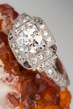 Authentic vintage engagement rings are truly stunning!
