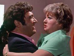 Bernard Bresslaw and Joan Sims in Carry On Loving. 1970