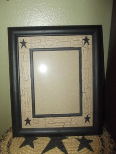 Primitive Crackle Painted Wood Picture Frame w/ Matte~ Holds 5x7 ~ Country Decor #NaivePrimitive