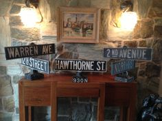 1953 Cast Aluminum Street Sign (three different signs available)