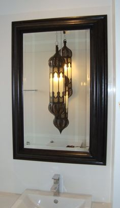 Framed Bathroom Mirrors Australia oak framed random panel aged mirror - designed and custom made