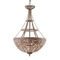 Titan Lighting Victorian Collection 4-Light Ceiling Mount Dark Bronze Pendant-TN-5803 at The Home Depot