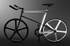 A sleek bicycle concept with polished Z-shaped frame, called Z-FIXIE bicycle.