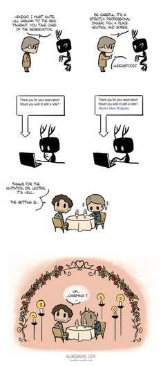 What if the Wendigo was Hannibal Lecter's pet/assistant? Second one! ^^. #Hannibal fan art. Sketches & storyboards by Algesiras http://algesiras.free.fr http://algesiras.deviantart.com/